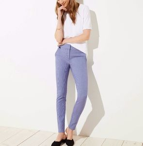 LOFT Light Gray Marisa Skinny Ankle Pants